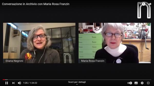 Conversazione in Archivio Negroni con Maria Rosa Franzin